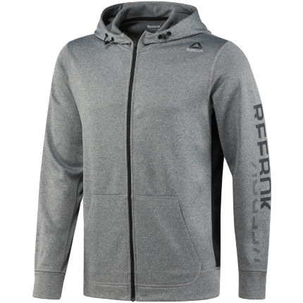 Reebok Workout Ready Poly Fleece Huvtröja - Herr