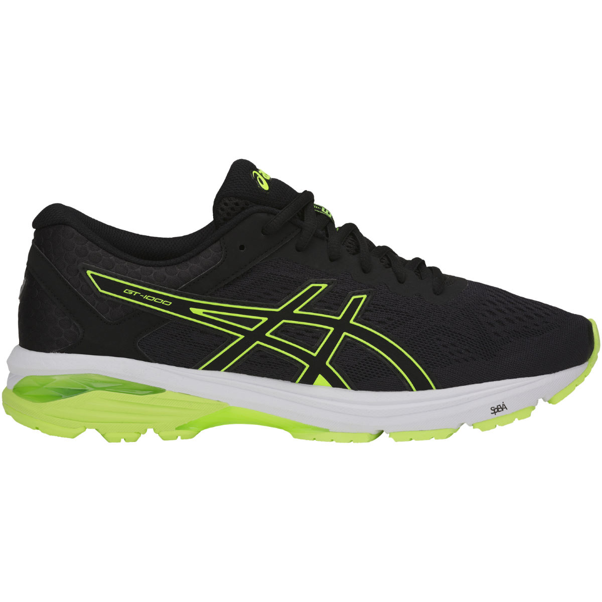 Chaussures Asics GT-1000 6 - UK 11 BLACK/SAFETY YELLOW/