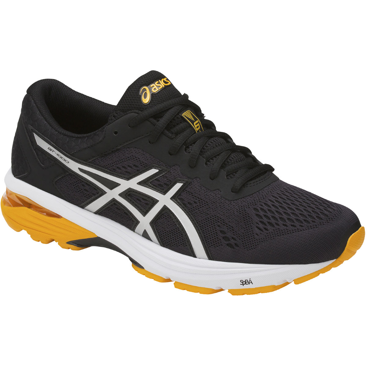 Chaussures Asics GT-1000 6 - UK 11 Black/Silver/Gold Fu
