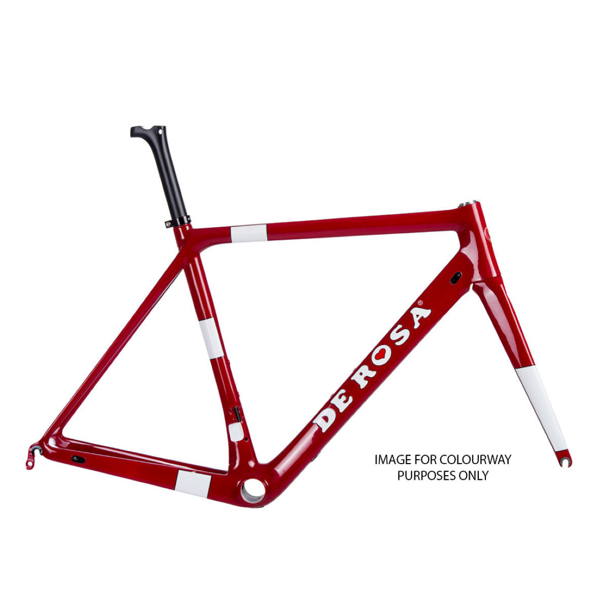 Vélo de route De Rosa King XS (Super Record EPS, 2017) - 49cm Stock Bike Rouge/Blanc Vélos de route