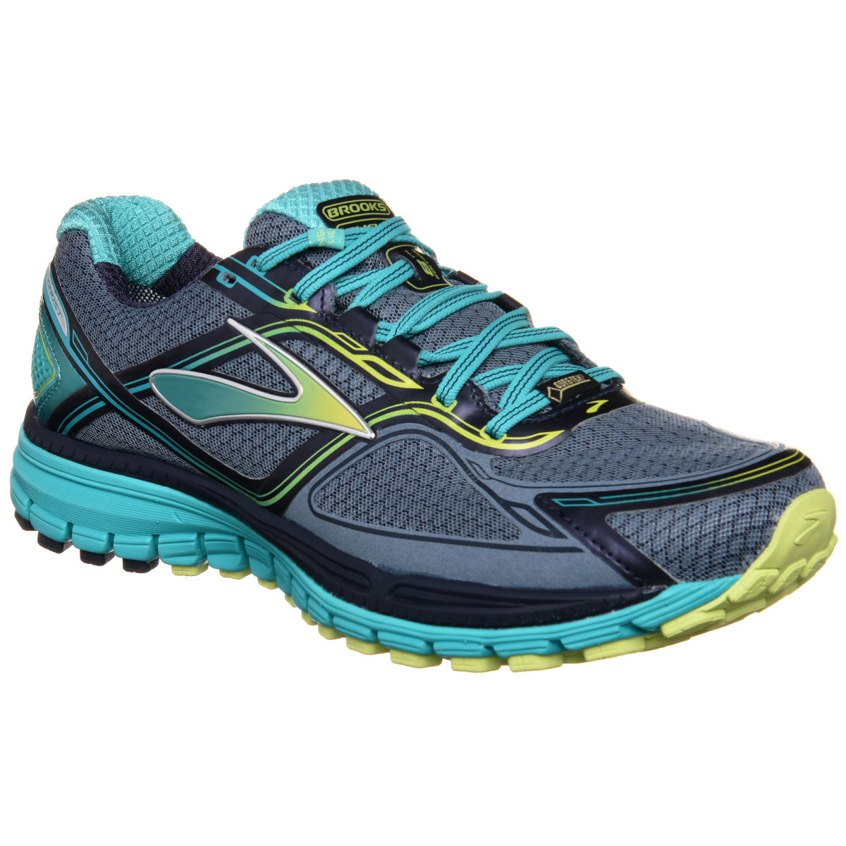 Chaussures Femme Brooks Ghost 8 GTX - UK 4 Storm/SharpGreen/Cer Chaussures de running amorties