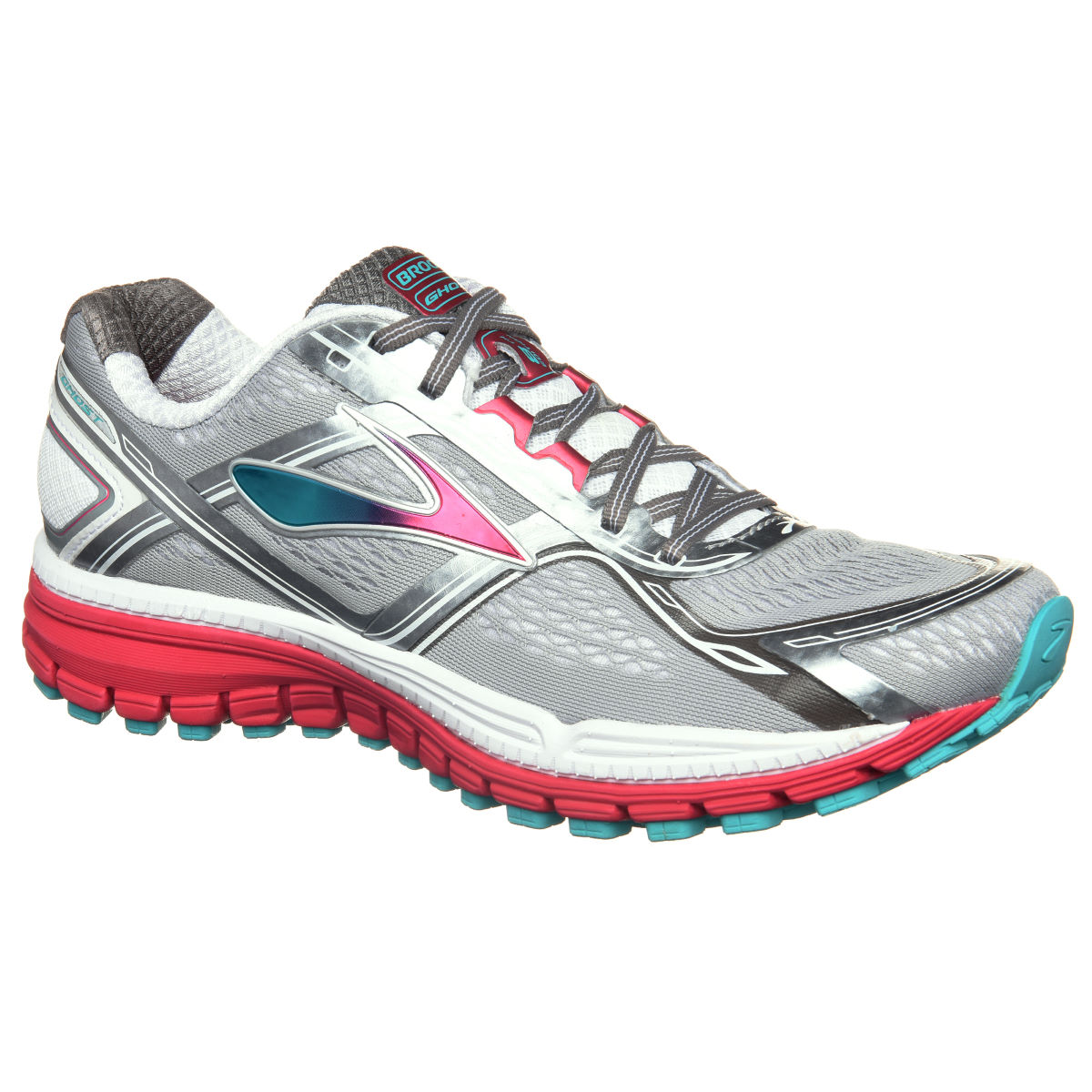 Chaussures Femme Brooks Ghost 8 - UK 4 MetallicCharcoal/Bri Chaussures de running amorties