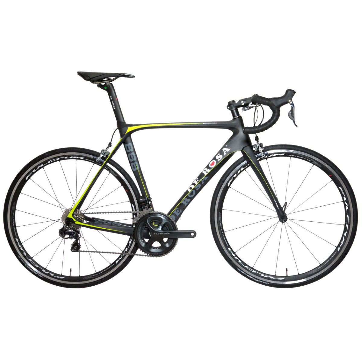 Vélo de route De Rosa SuperKing 888 (105, 2014) - 46cm Stock Bike Noir/Jaune Vélos de route