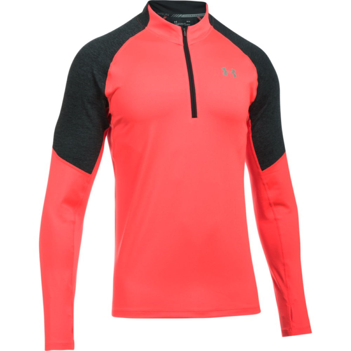 Maillot Under Armour Threadborne Run (1/4 zippé) - S Marathon Red Hauts de running à manches longues