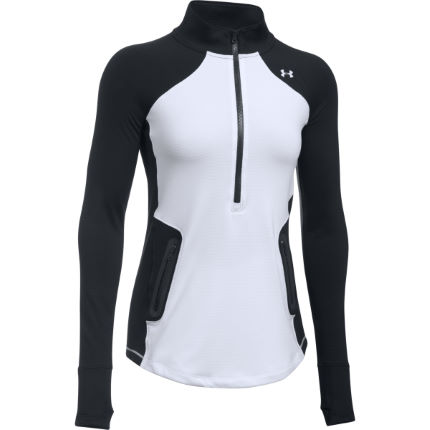 Under Armour Women's ColdGear Reactor 1/2 Zip Gym Top