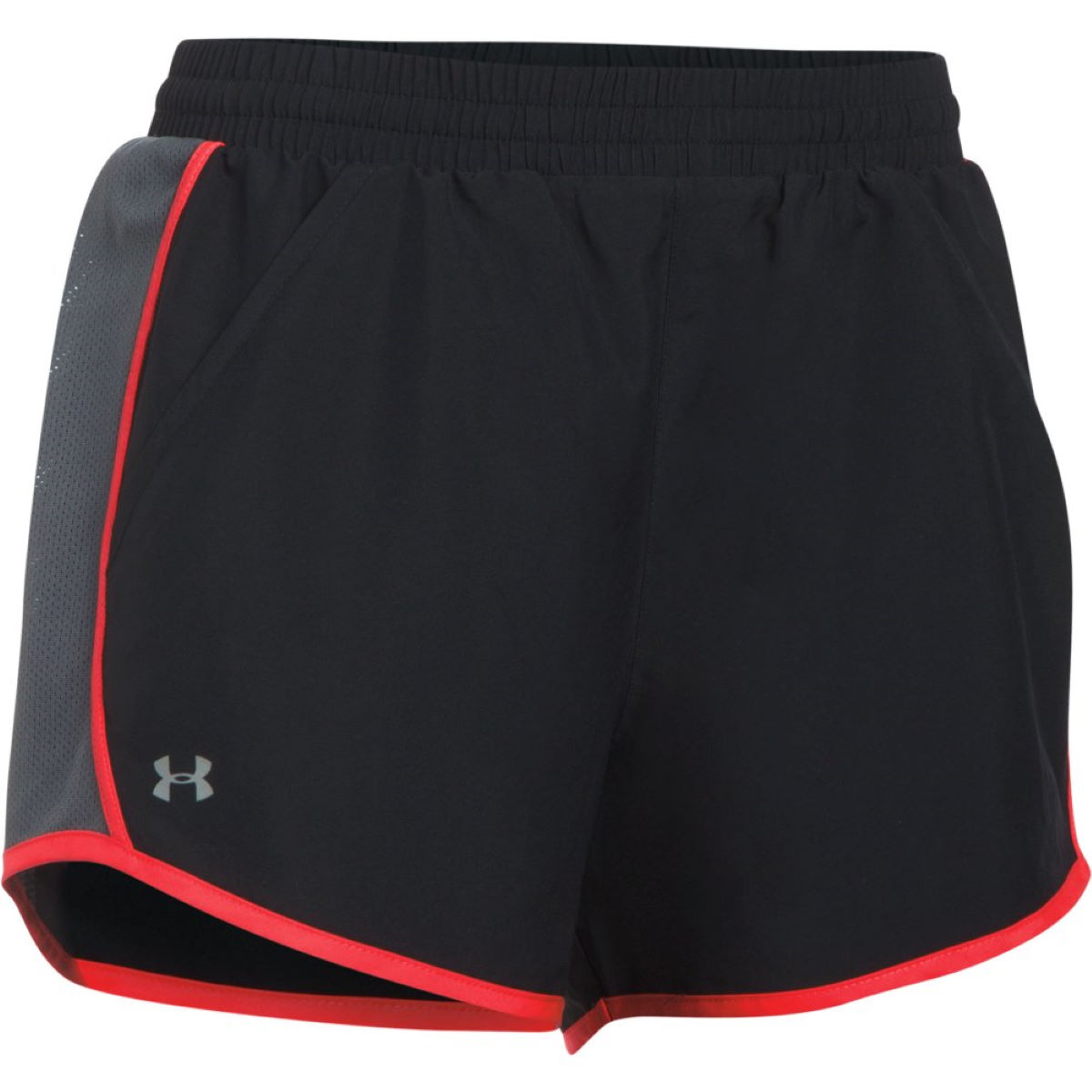 Short Femme Under Armour Fly By - XS Black/Marathon Red