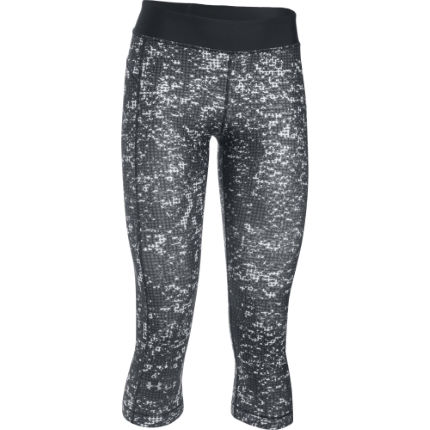 Under Armour Women's HG Armour Printed Capri Gym Tight