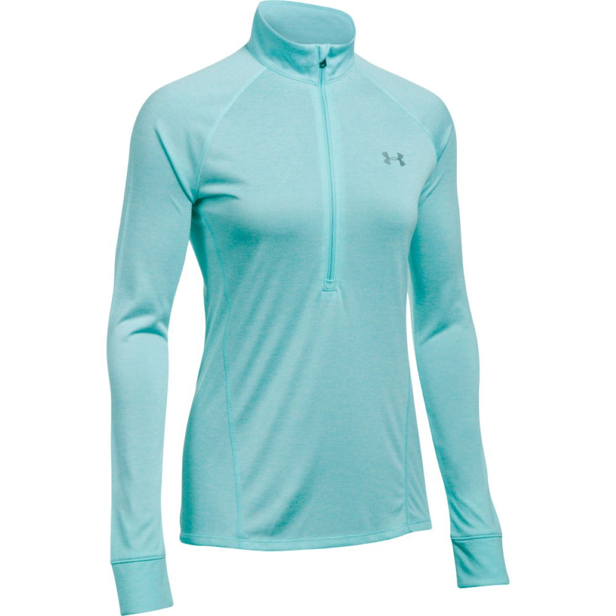 Under Armour Women's Tech 1/2 Zip Twist Top - XL Blue Infinity Hauts de running à manches longues