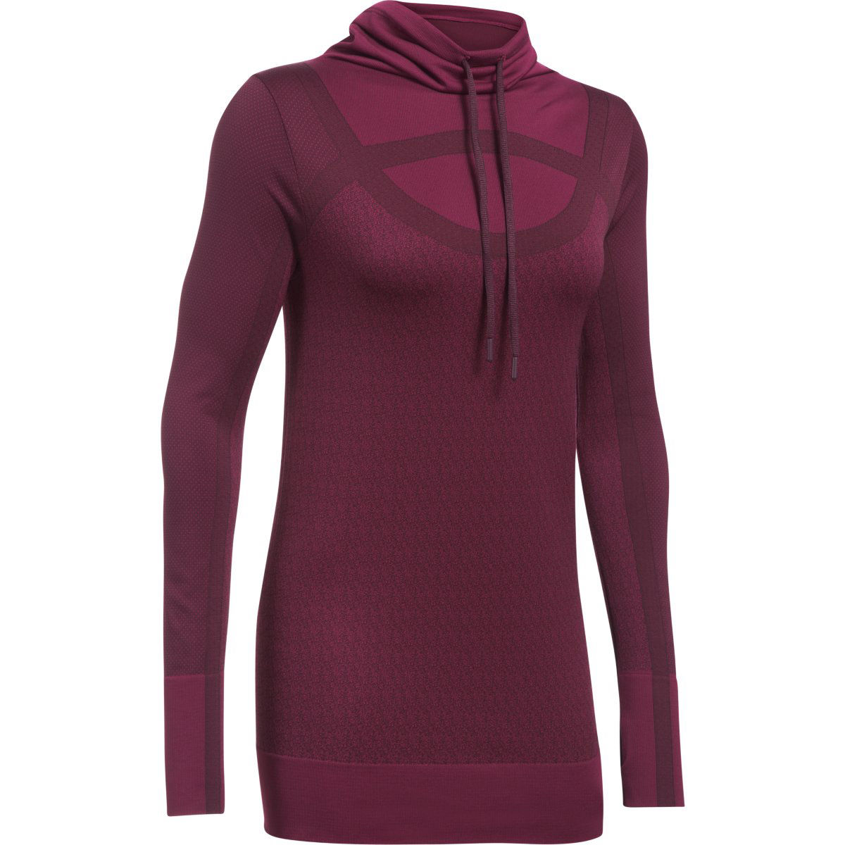 Camiseta de fitness Under Armour Threadborne Seamless para mujer (cuello chimenea) - Camisetas de entrenamiento
