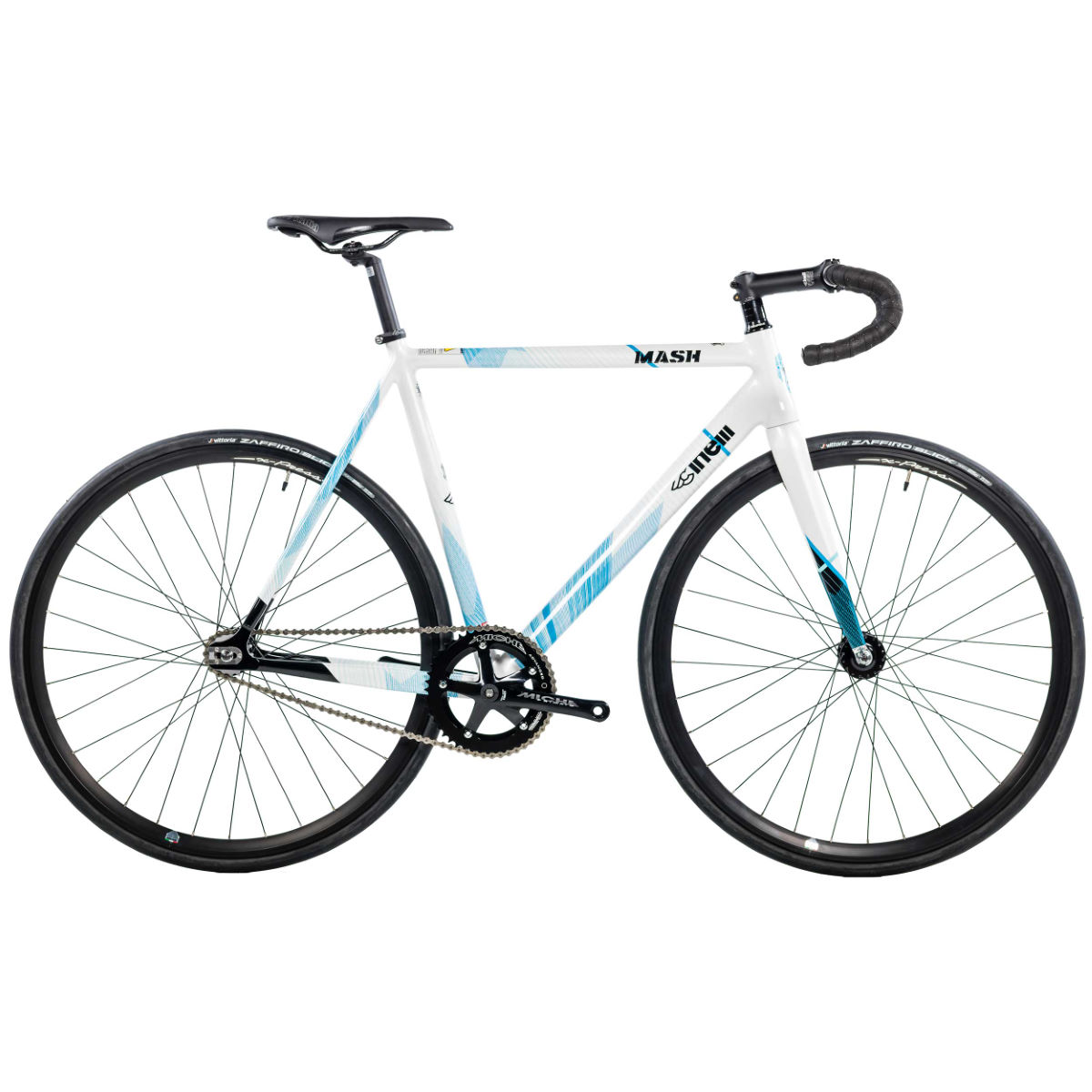 Vélo Cinelli MASH Parallax Single Speed (2017) - M Stock Bike Cyan Single speed