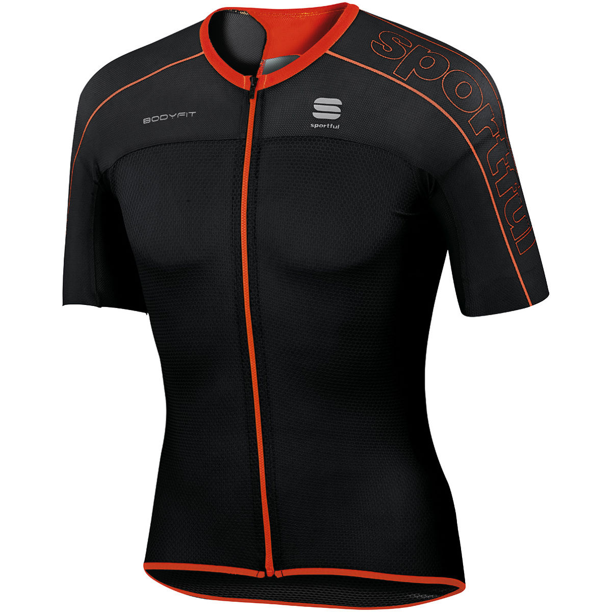 Maillot Sportful BodyFit Ultralight - L Noir/Rouge Maillots