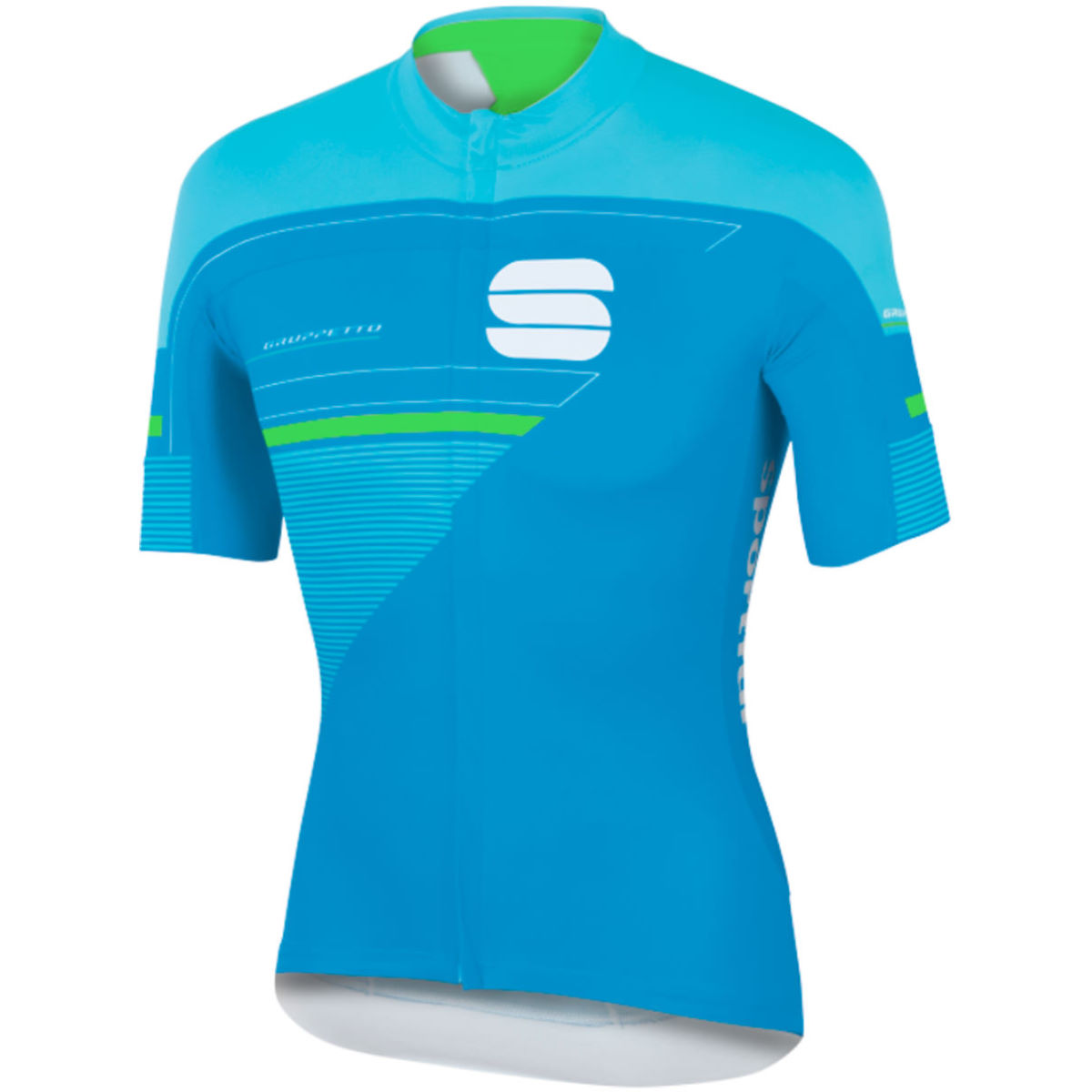 Maillot Sportful Gruppetto Pro LTD - XXL Blue/Green Maillots vélo à manches courtes