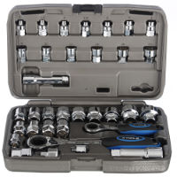 X-Tools 34 Piece Go-Through Socket Set Silver One Size