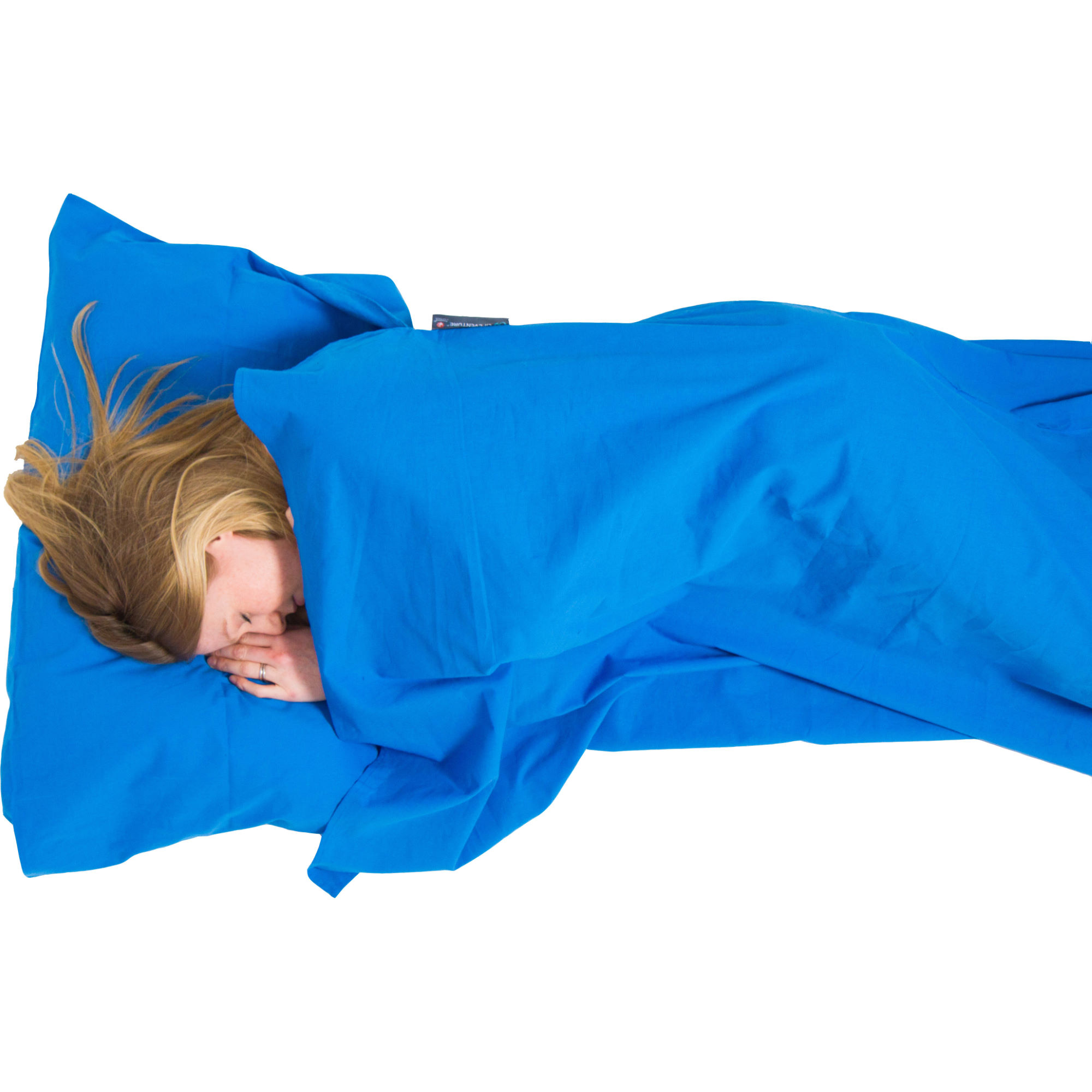 Lifeventure Cotton Sleeping Bag Liner Anti Bac Mummy Blue One