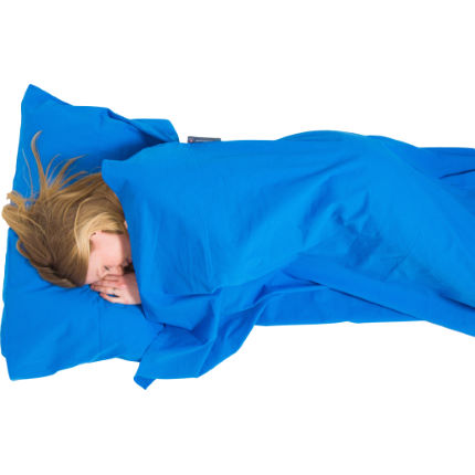 Lifeventure Cotton Sleeping Bag Liner Anti-Bac Rectangular Blu