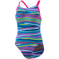 adidas Womens Infinitex+ Thin Straps Swimsuit Pink/Blue