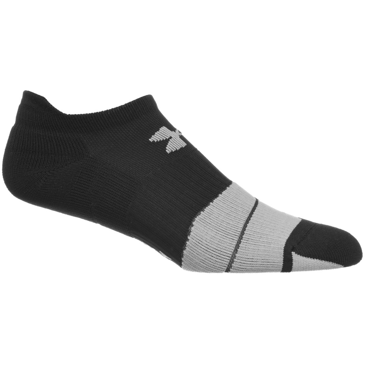 Chaussettes Under Armour Run Cushion NoShow - M Black / Graphite