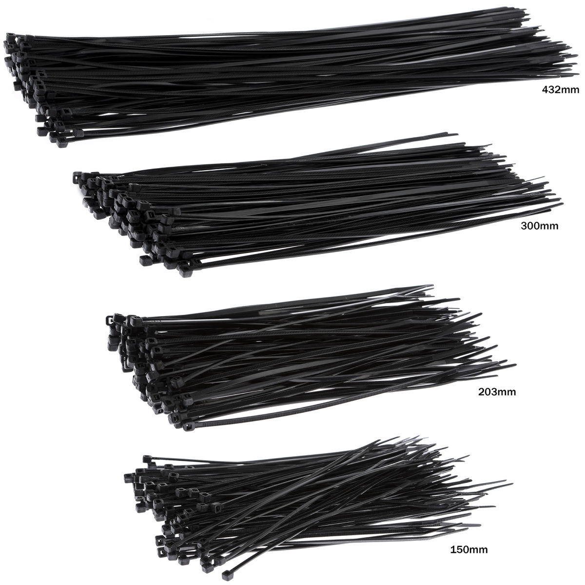 Attaches de câbles X-Tools (nylon, noires) - 3.6mm x 200mm Noir