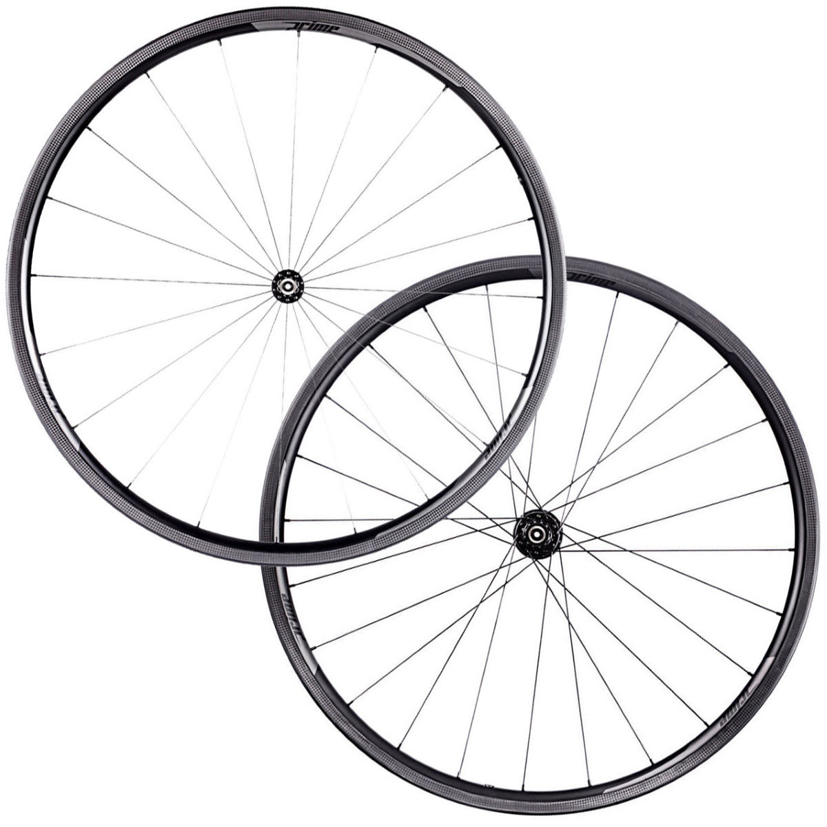 Prime RR-28 Carbon Clincher Road Wheelset - 700c Shimano/SRAM Black Decal Roues performance
