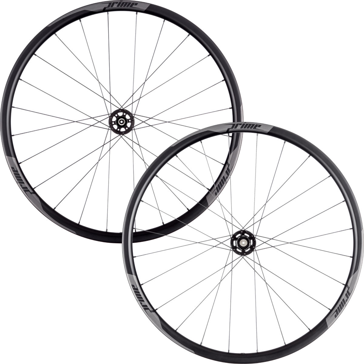 Prime RR-28 Carbon Clincher Disc Road Wheelset - 700c Shimano/SRAM Black Decal Roues performance