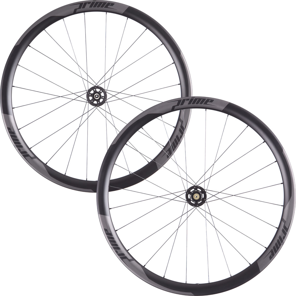 Prime RR-38 Carbon Clincher Disc Road Wheelset - 700c Shimano/SRAM Black Decal Roues performance