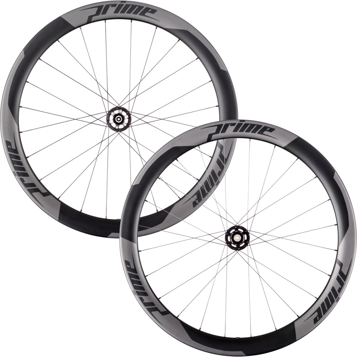 Prime RR-50 Carbon Clincher Disc Road Wheelset - 700c Shimano/SRAM Black Decal Roues performance