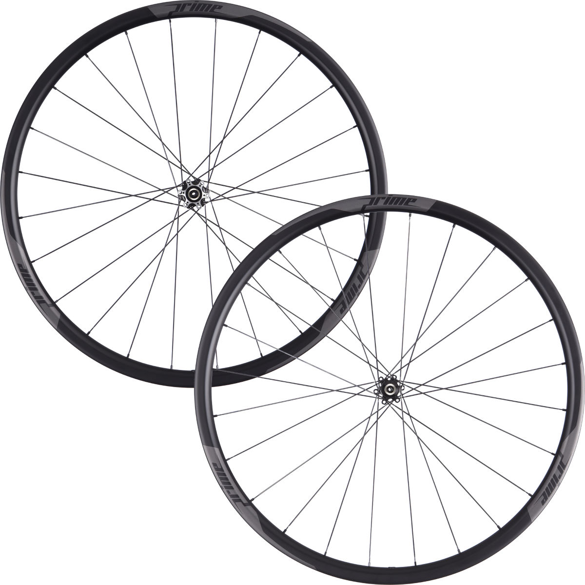 Prime RP-28 Carbon Clincher Disc Road Wheelset - 700c Shimano/SRAM Black Decal Roues performance