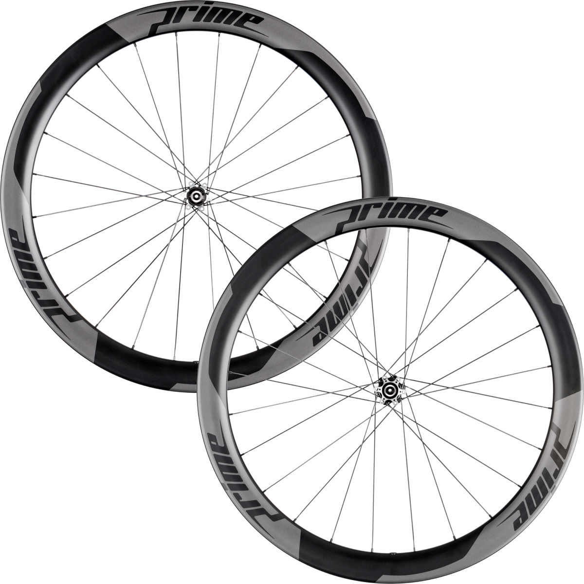Prime RP-50 Carbon Clincher Disc Road Wheelset - 700c Shimano/SRAM Black Decal Roues performance