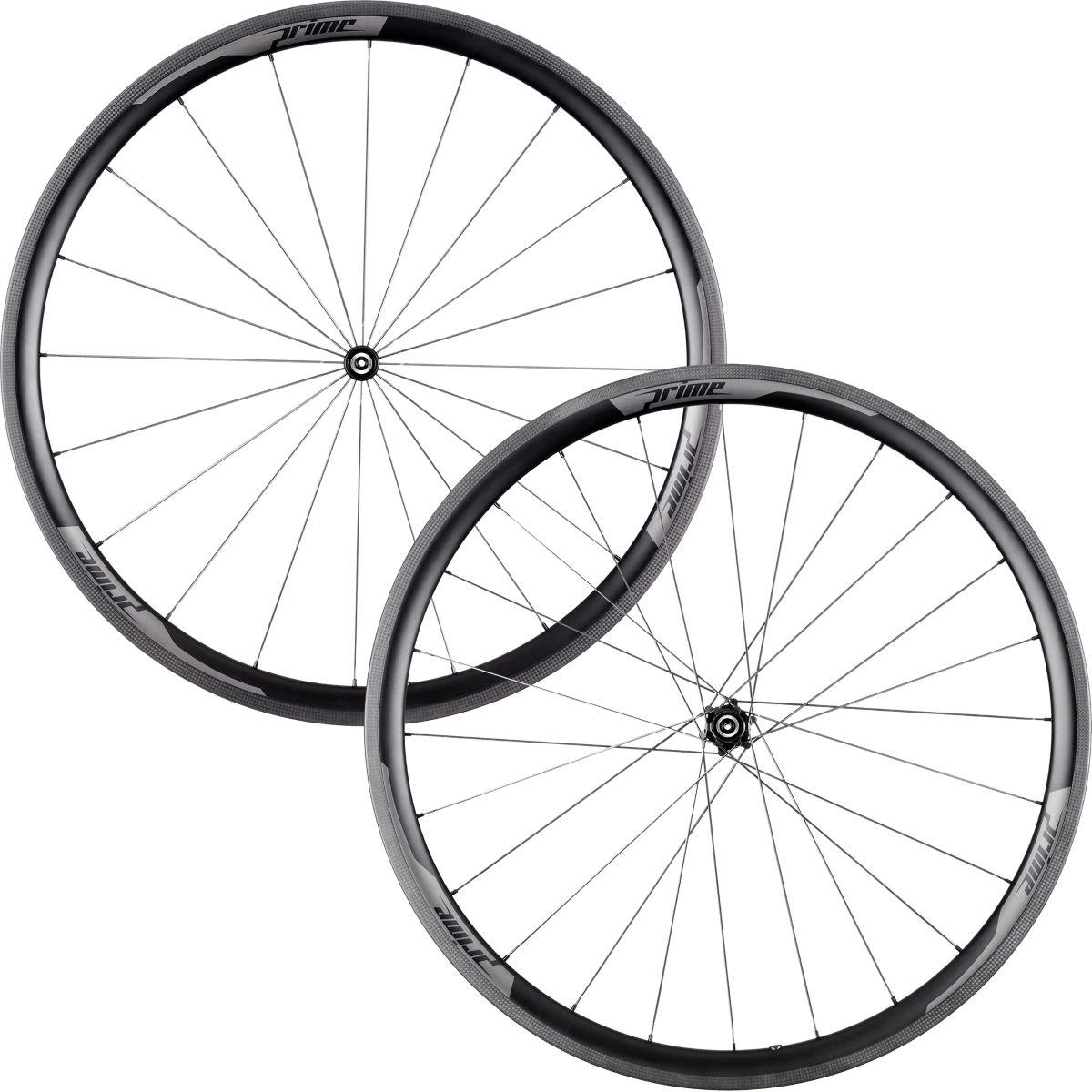 Prime RP-35 Carbon Tubular Road Wheelset - 700c Shimano/SRAM Black Decal Roues performance