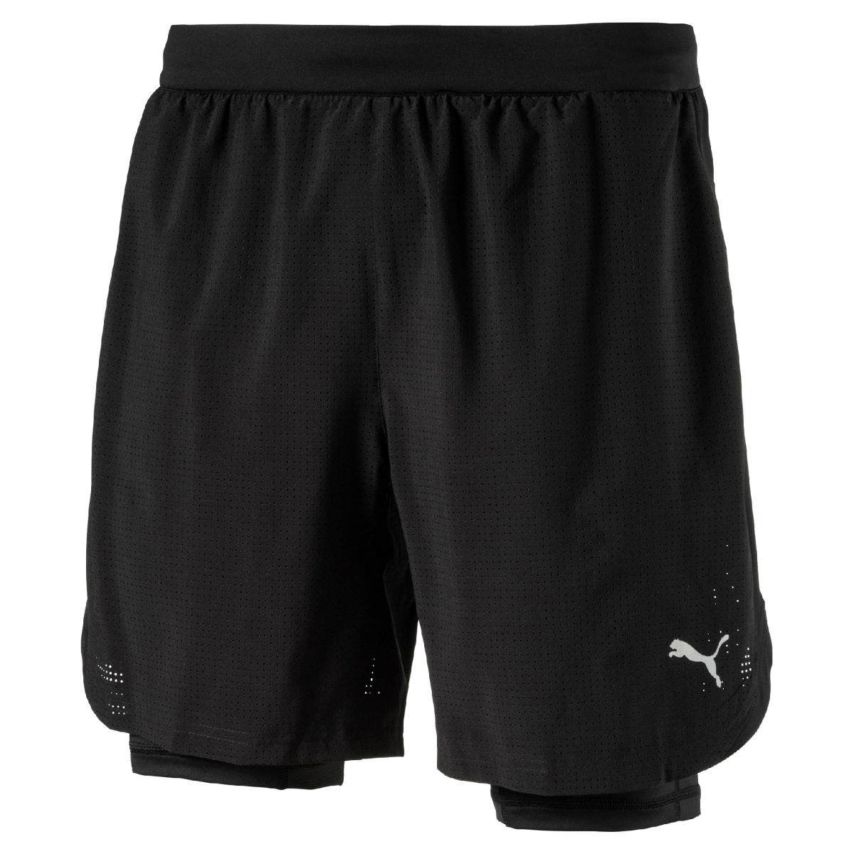 Short Puma Pace Run (2 en 1, 18 cm environ) - M Puma Black