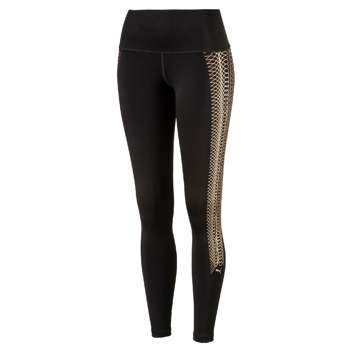 Puma Women's Everyday Graphic Gym Tight - S Puma Black-Copper la