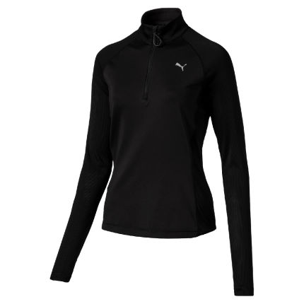 Puma Women's 1/2 Zip Long Sleeve Run Top