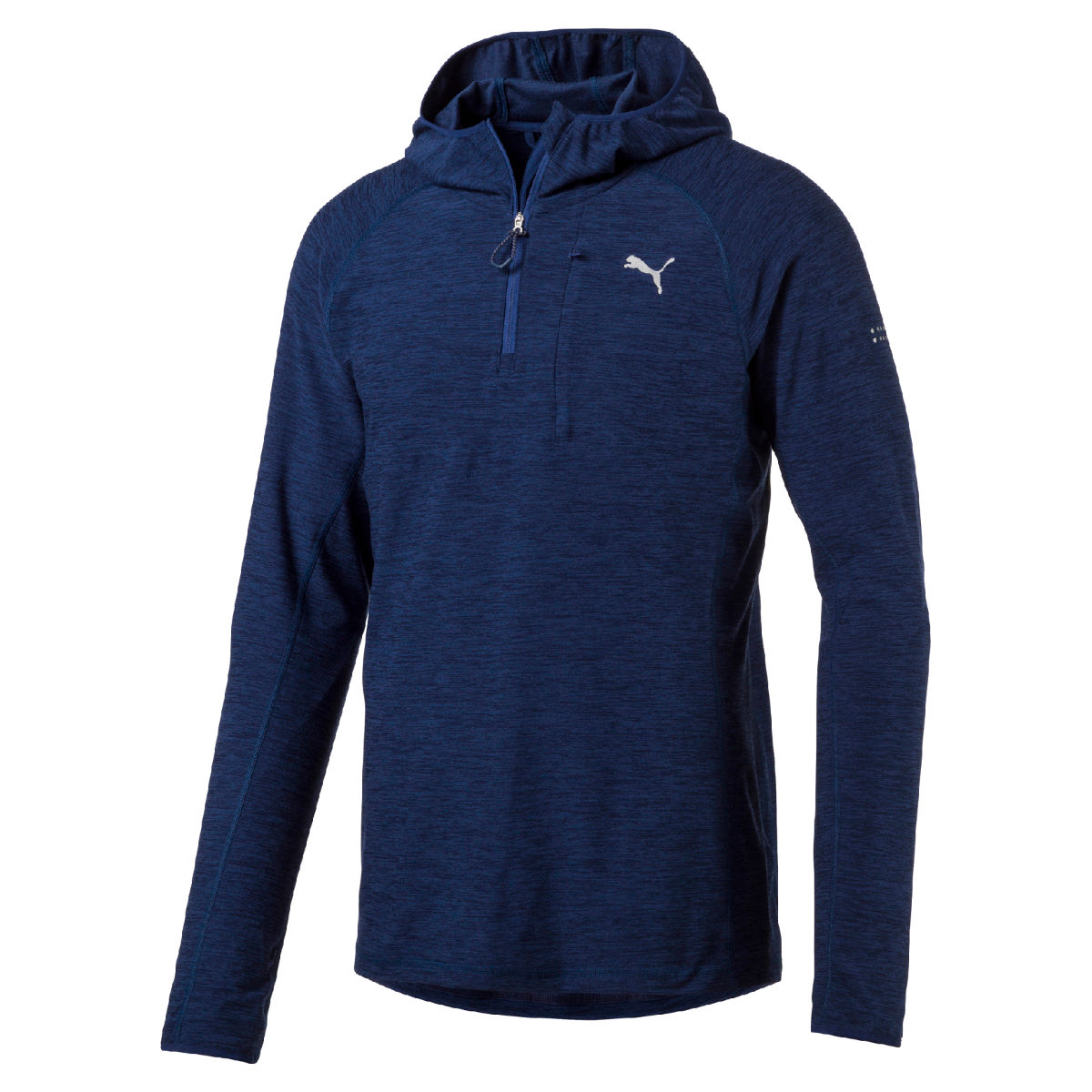 Maillot Puma Run (capuche, manches longues) - S Blue Depths Heather