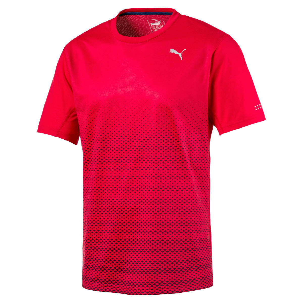 Puma Graphic Short Sleeve Run Tee - XL Toreador Heather