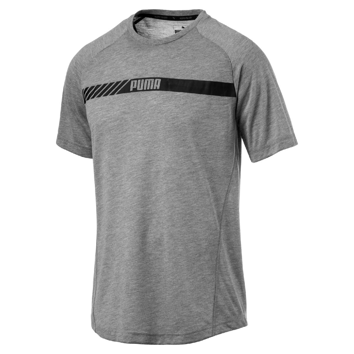 Puma Active Tec Gym Tee - XXL Medium Gray Heather