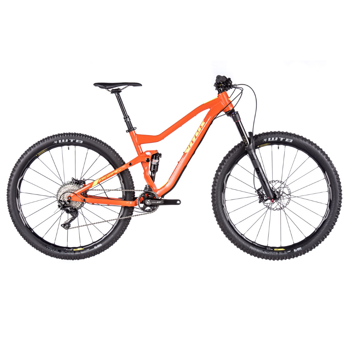 VTT Vitus Escarpe 29 VRX (2017) - Small Stock Bike Orange/Yellow VTT tout suspendu
