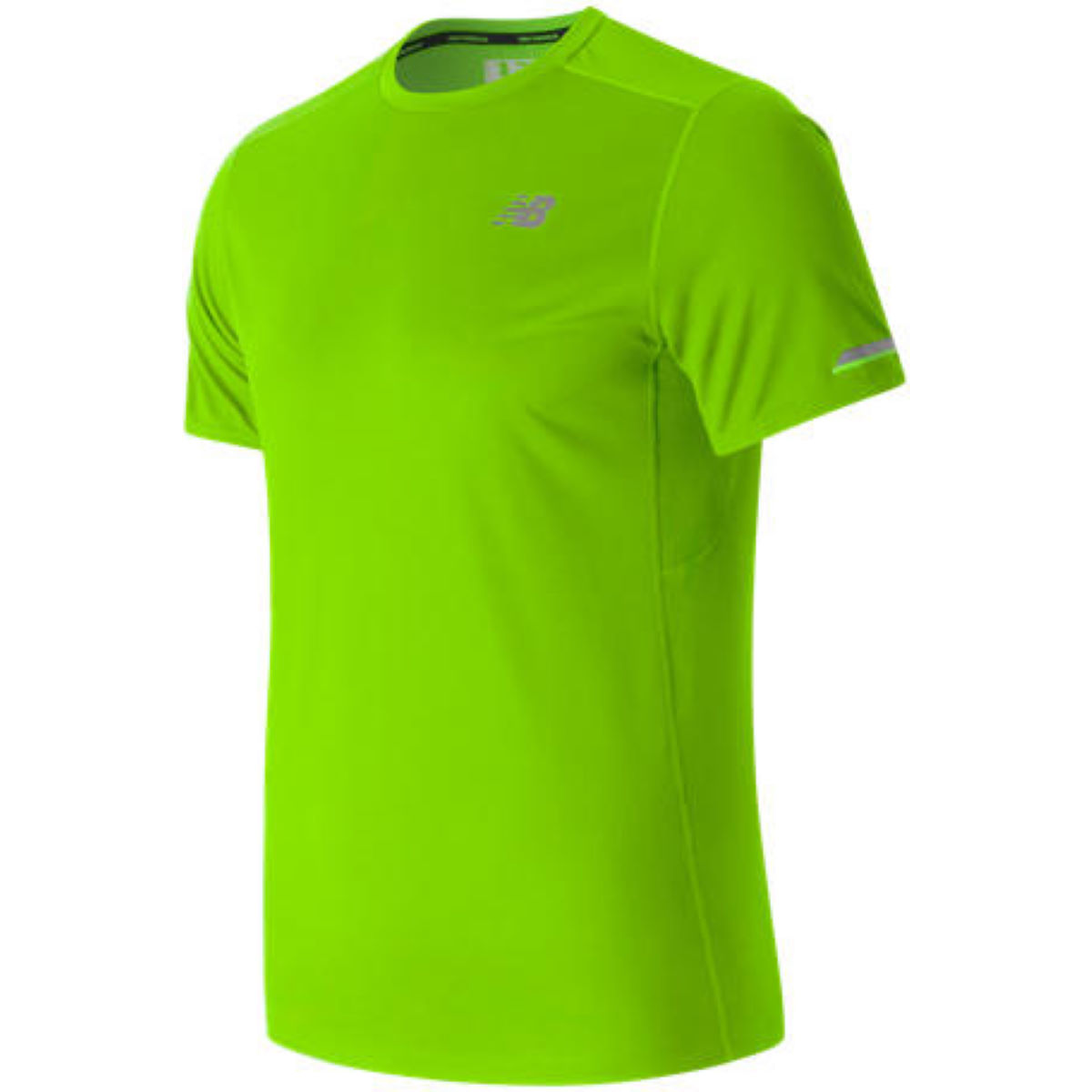 Maillot de running New Balance Ice (manches courtes) - S ENERGY LIME