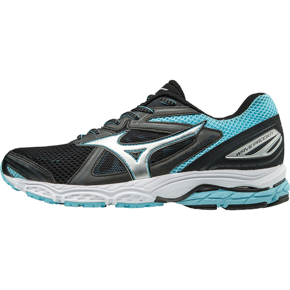 Chaussures Femme Mizuno Wave Prodigy - UK 4 Black/Silver/BlueTop