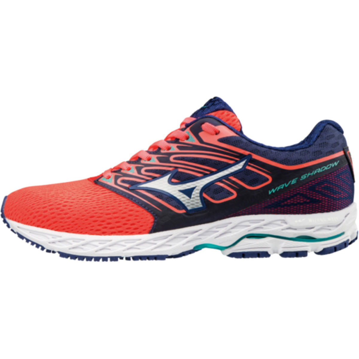 Chaussures Femme Mizuno Wave Shadow - UK 4 Fiery Coral / White