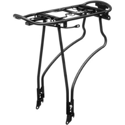 LifeLine Alloy Rear Pannier Rack Black