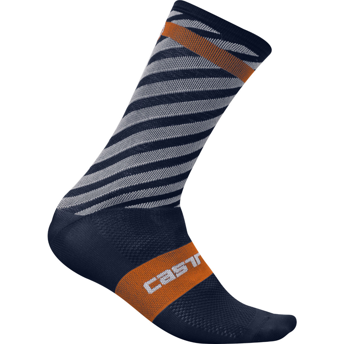 Chaussettes Castelli Free Kit 13 - S/M Midnight Navy/Orange