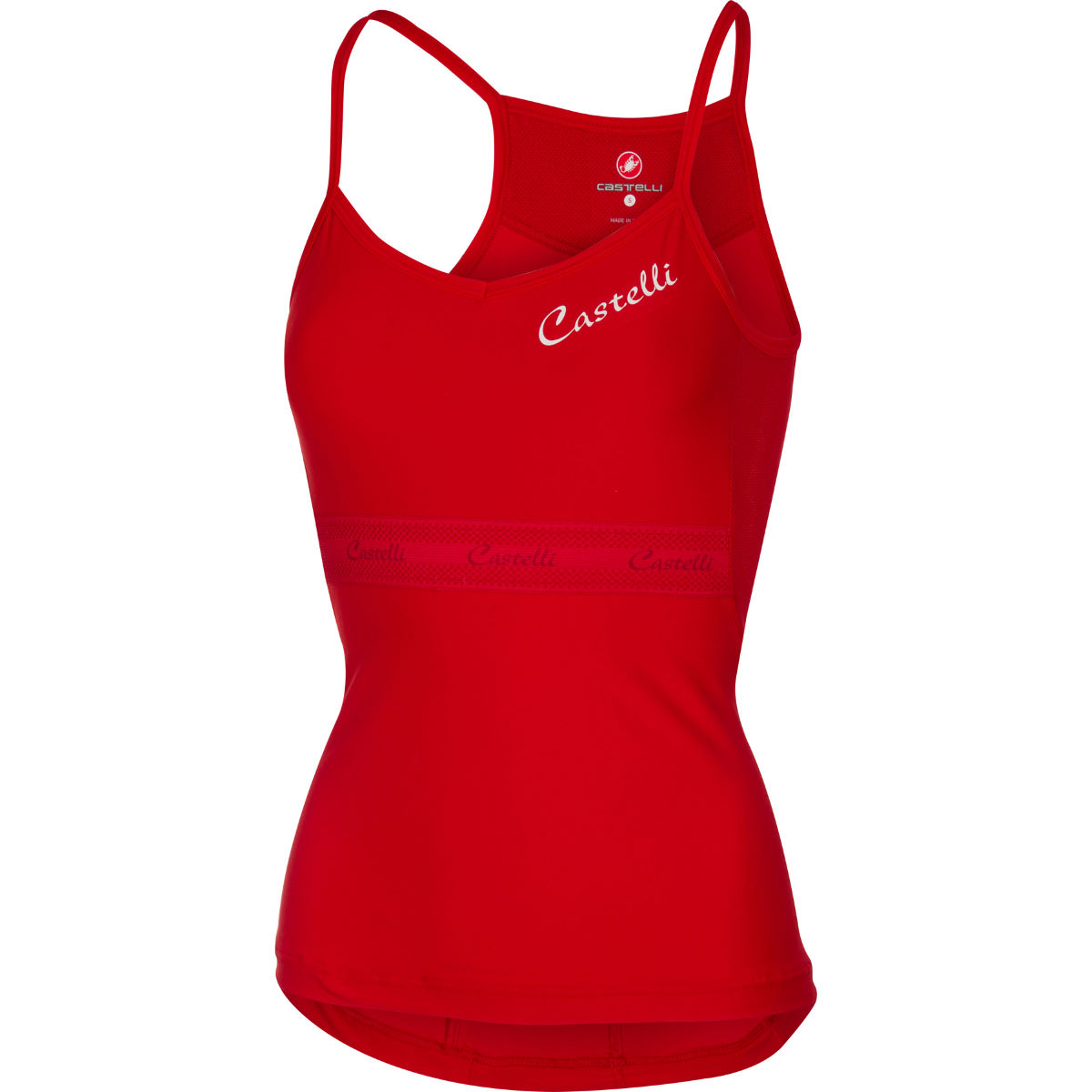 Maillot Femme Castelli Spaghettino - XS Rouge Maillots vélo à manches courtes