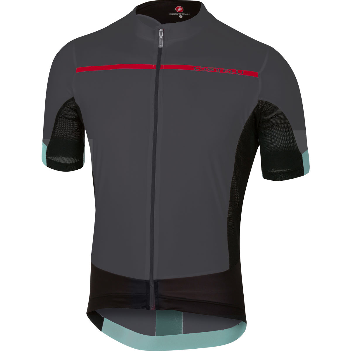 Maillot Castelli Forza Pro - XL Anthracite/Red