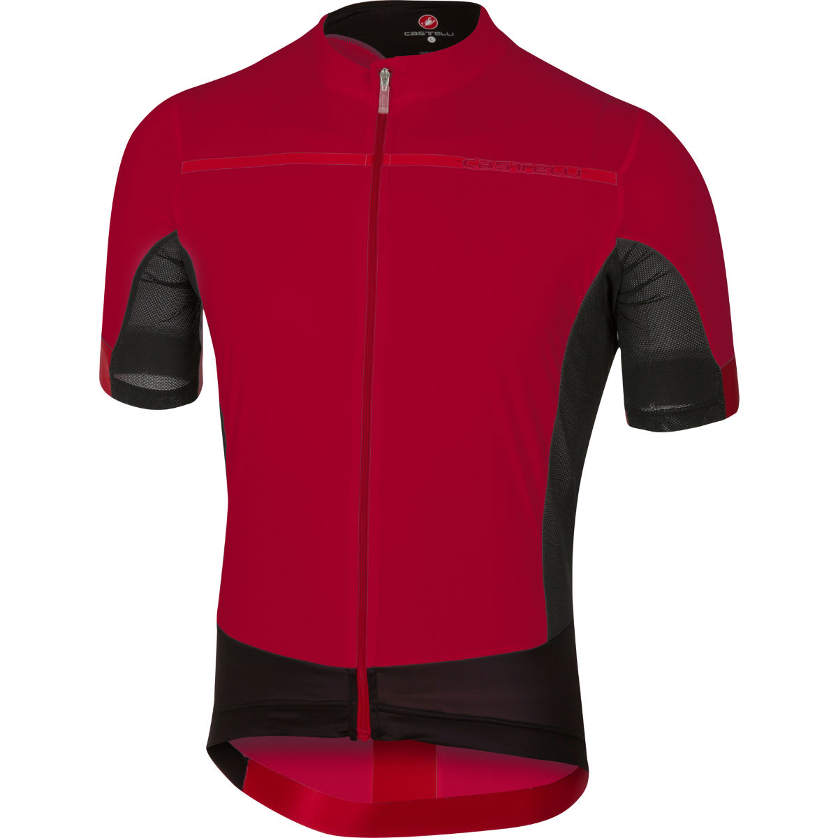Maillot Castelli Forza Pro - S Ruby Red/Red Maillots vélo à manches courtes