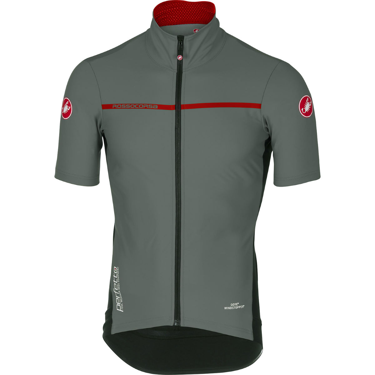 Maillot Castelli Perfetto Light 2 - M Forest Gray Maillots