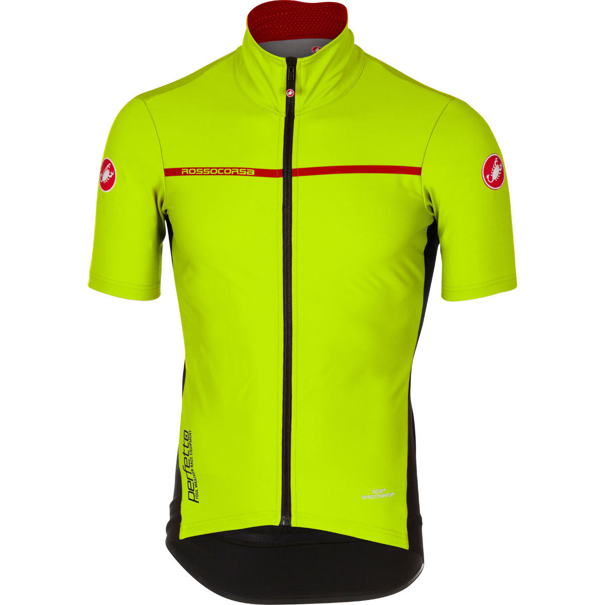 Maillot Castelli Perfetto Light 2 - M Yellow Fluo