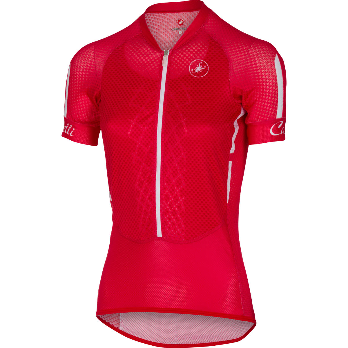 Maillot Femme Castelli Climber's - L Rouge/Blanc Maillots