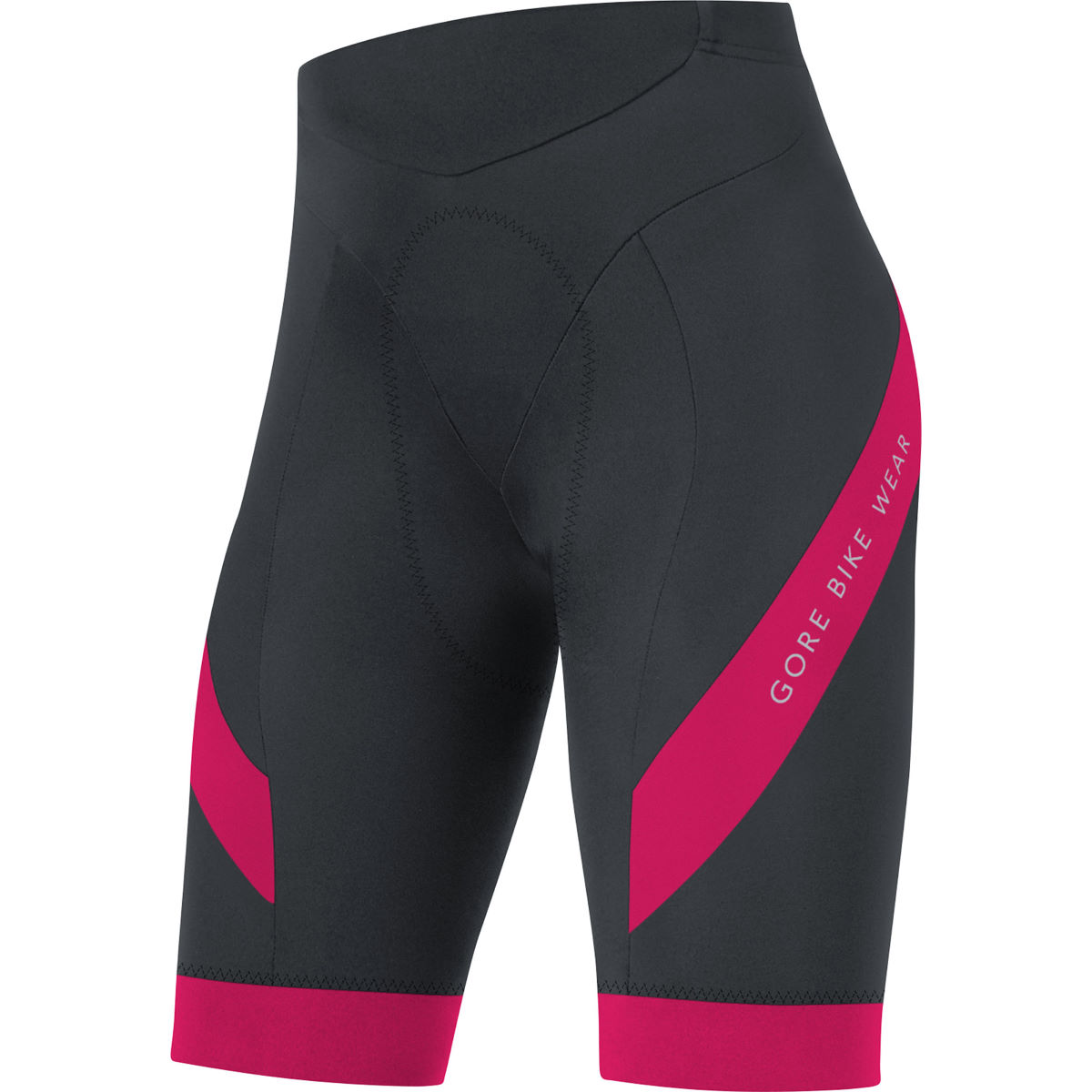 Cuissard court Femme Gore Bike Wear Power+ - L Noir/Rose Cuissards en lycra
