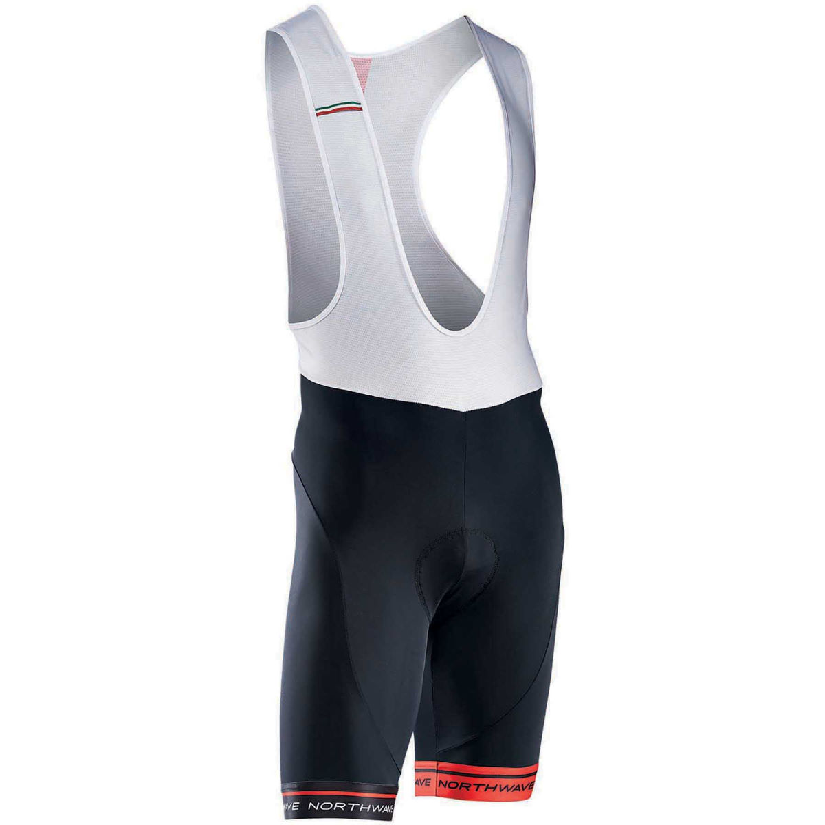Northwave Kids Logo 3 Bib Shorts - 5-6 years Noir/Rouge Cuissards en lycra