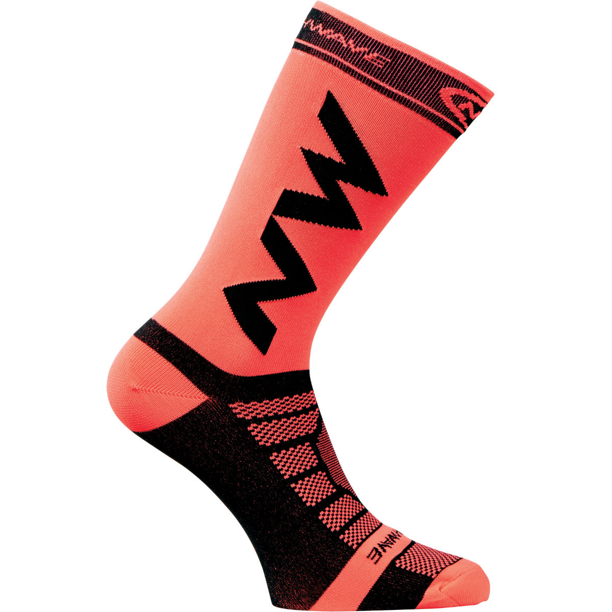 Chaussettes Northwave Extreme Light Pro - S Black/Lobster Orange